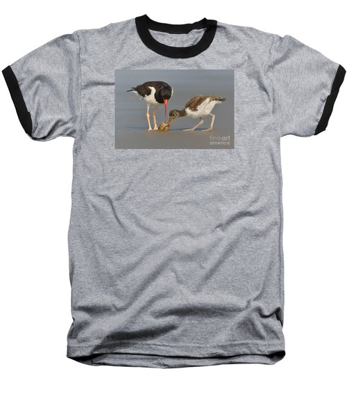 Baseball T-Shirt featuring the photograph Teaching The Young by Jerry Fornarotto