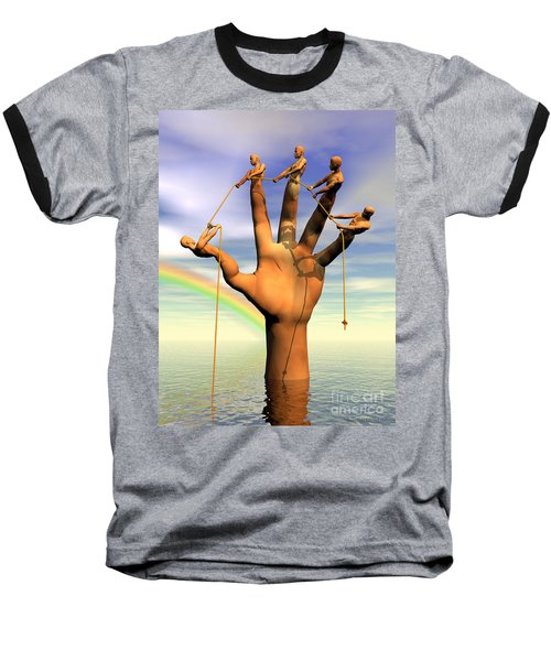The Hand Is The Sum Of Its Fingers Baseball T-Shirt