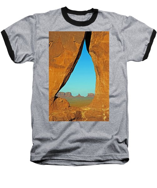 Tear Drop Arch Monument Valley Baseball T-Shirt