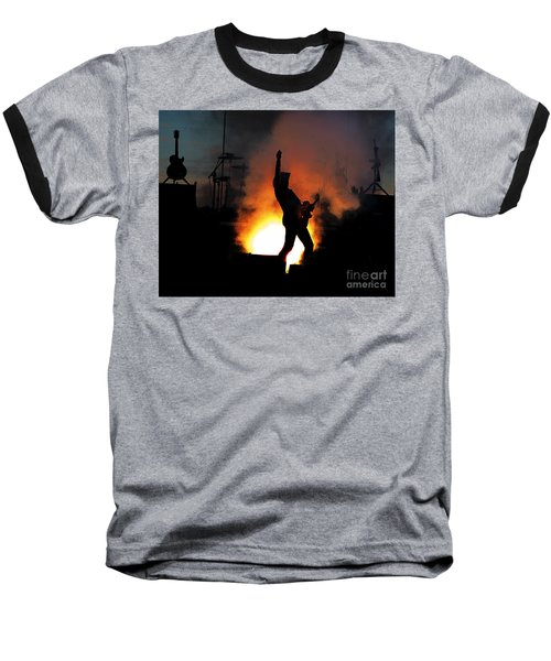 Ted Nugent On Fire Baseball T-Shirt