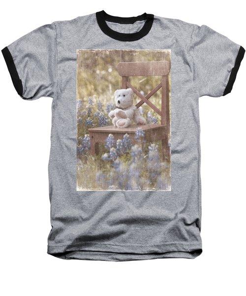 Teddy Bear And Texas Bluebonnets Baseball T-Shirt