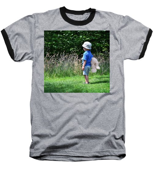 Baseball T-Shirt featuring the photograph Teddy Bear Walk by Keith Armstrong