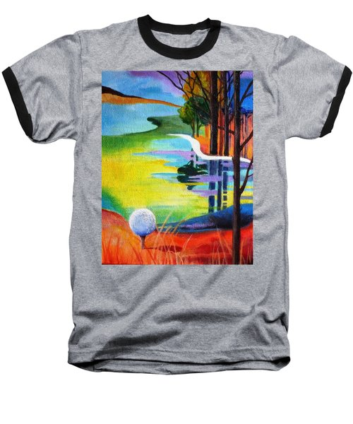 Tee Off Mindset- Golf Series Baseball T-Shirt by Betty M M   Wong