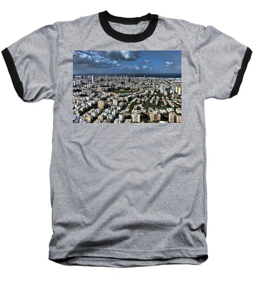 Baseball T-Shirt featuring the photograph Tel Aviv Center by Ron Shoshani