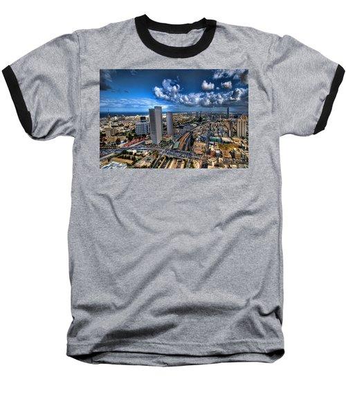 Baseball T-Shirt featuring the photograph Tel Aviv Center Skyline by Ron Shoshani