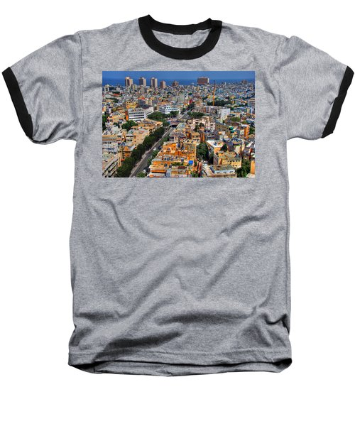 Tel Aviv Eagle Eye View Baseball T-Shirt
