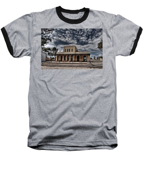 Baseball T-Shirt featuring the photograph Tel Aviv First Railway Station by Ron Shoshani