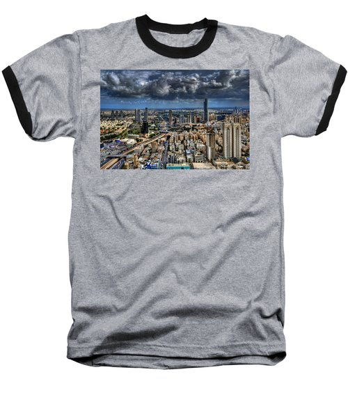 Baseball T-Shirt featuring the photograph Tel Aviv Love by Ron Shoshani