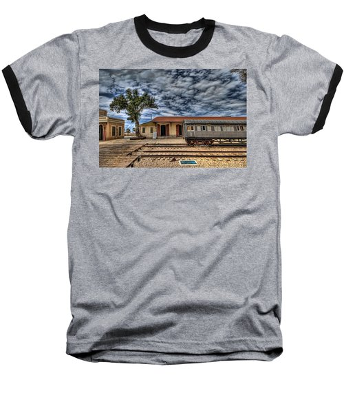 Baseball T-Shirt featuring the photograph Tel Aviv Old Railway Station by Ron Shoshani