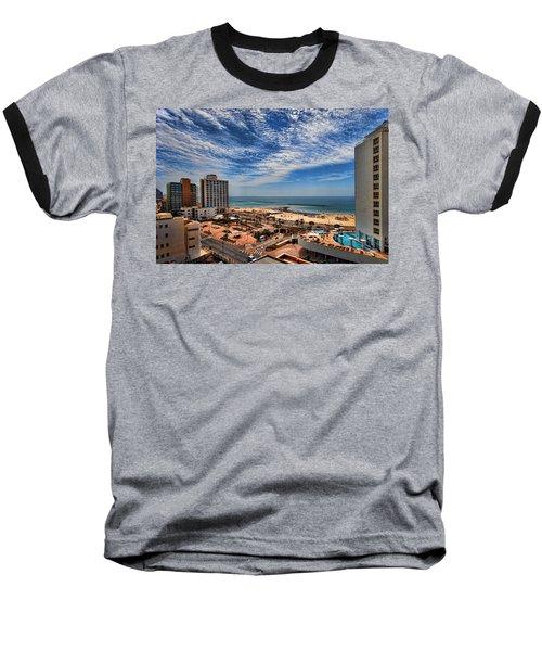 Baseball T-Shirt featuring the photograph Tel Aviv Summer Time by Ron Shoshani