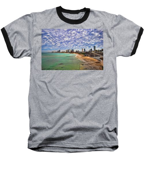 Tel Aviv Turquoise Sea At Springtime Baseball T-Shirt