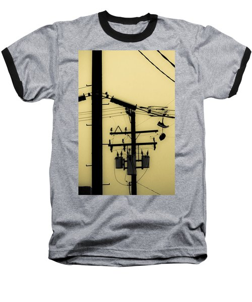 Telephone Pole And Sneakers 5 Baseball T-Shirt