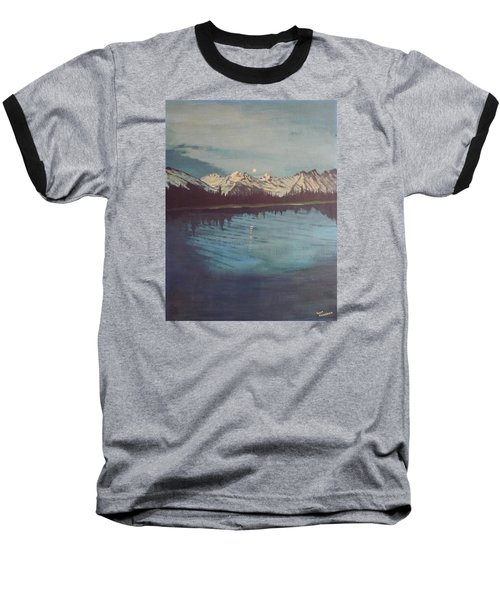 Baseball T-Shirt featuring the painting Telequana Lk Ak by Terry Frederick