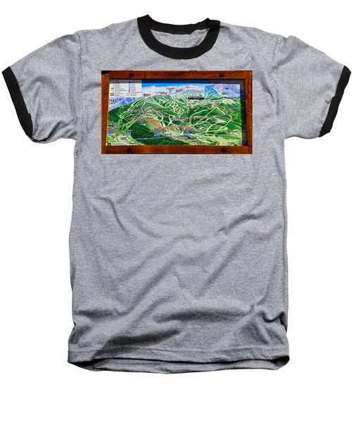 Telluride Ski Map Detail  Baseball T-Shirt