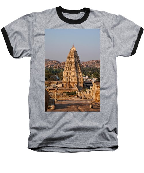 Temple At Hampi Baseball T-Shirt by Carol Ailles