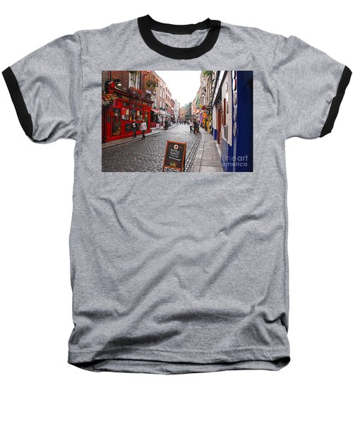 Baseball T-Shirt featuring the photograph Temple Bar by Mary Carol Story