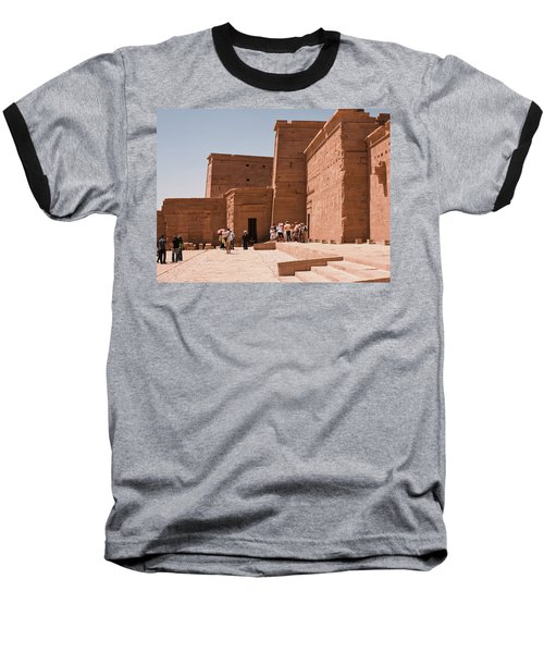 Temple Building Baseball T-Shirt