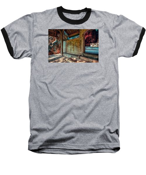 Temple Cave Baseball T-Shirt by Adrian Evans