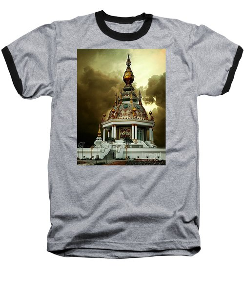 Temple Of Clouds  Baseball T-Shirt by Ian Gledhill