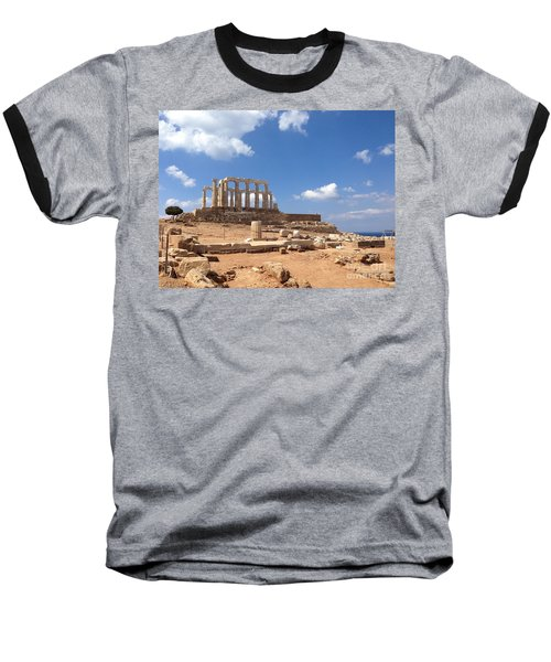 Temple Of Poseidon Baseball T-Shirt