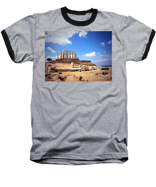 Temple Of Poseidon Vignette Baseball T-Shirt