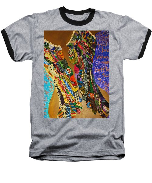 Baseball T-Shirt featuring the tapestry - textile Temple Of The Goddess Eye Vol 1 by Apanaki Temitayo M
