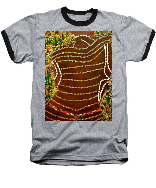 Baseball T-Shirt featuring the tapestry - textile Temple Of The Goddess Eye Vol 2 by Apanaki Temitayo M