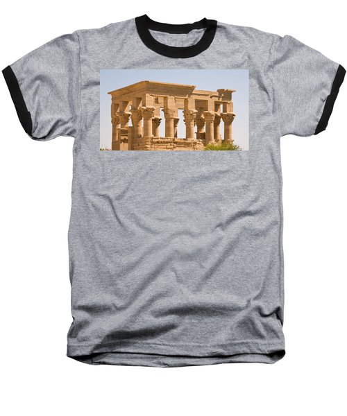 Temple Out Building Baseball T-Shirt