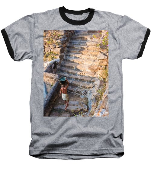 Temple Steps Baseball T-Shirt