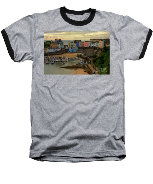 Tenby Harbour In The Morning Baseball T-Shirt