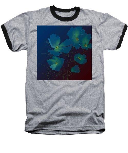 Tender Cosmos Baseball T-Shirt by Latha Gokuldas Panicker