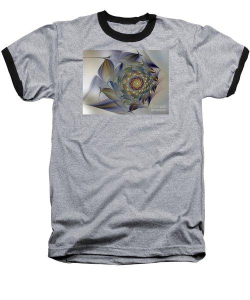 Tender Flowers Dream-fractal Art Baseball T-Shirt