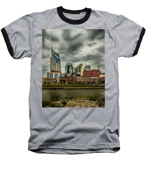 Tennessee - Nashville From Across The Cumberland River Baseball T-Shirt