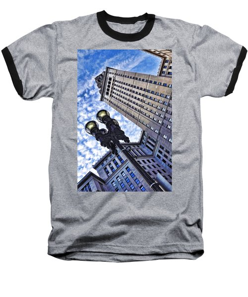 Terminal Tower - Cleveland Ohio - 1 Baseball T-Shirt