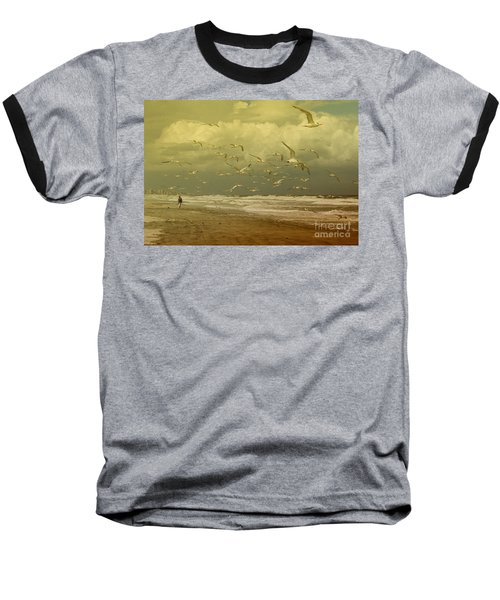 Terns In The Clouds Baseball T-Shirt