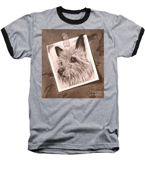 Terrier As Optical Illusion Baseball T-Shirt