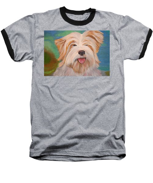 Terrier Portrait Baseball T-Shirt