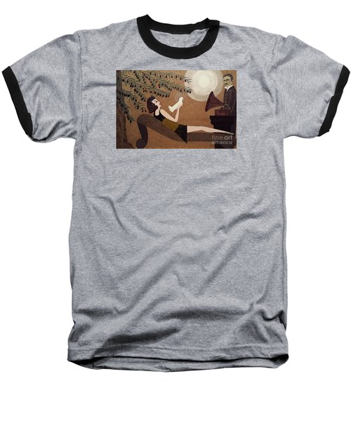 Tesla And White Dove Baseball T-Shirt by Jasna Gopic