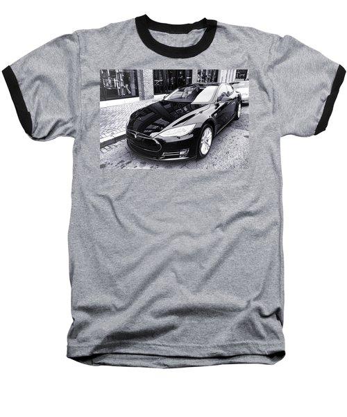Tesla Model S Baseball T-Shirt