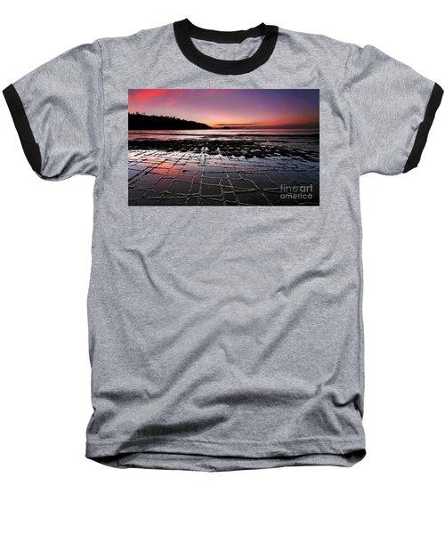Tesselated Pavement Sunrise Baseball T-Shirt by Bill  Robinson