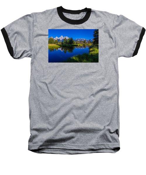Teton Reflection Baseball T-Shirt by Chad Dutson