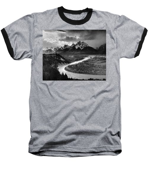 Tetons And The Snake River Baseball T-Shirt
