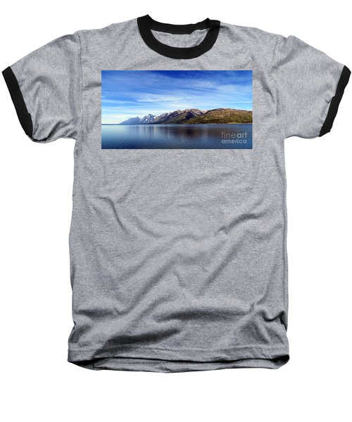 Tetons By The Lake Baseball T-Shirt