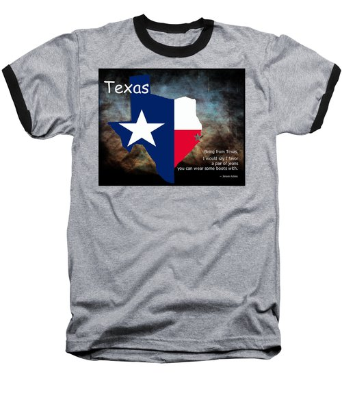 Jensen Ackles Texas Quote Baseball T-Shirt