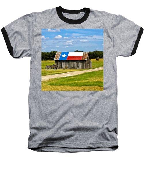 Texas Barn Flag Baseball T-Shirt