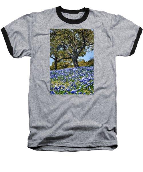 Texas Bluebonnet Hill Baseball T-Shirt