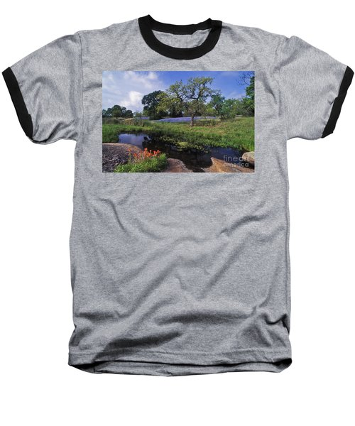 Texas Hill Country - Fs000056 Baseball T-Shirt by Daniel Dempster