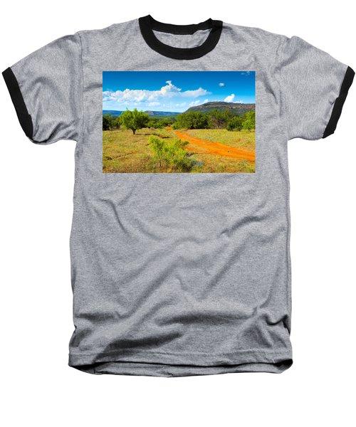 Texas Hill Country Red Dirt Road Baseball T-Shirt