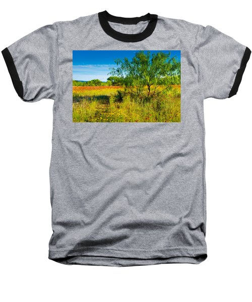 Texas Hill Country Wildflowers Baseball T-Shirt