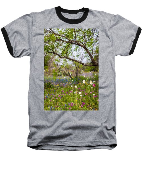 Texas Roadside Wildflowers 732 Baseball T-Shirt